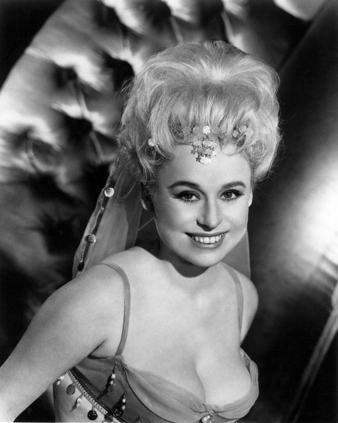 A young Barbara Windsor shot to fame in the 1964 movie, Carry On Spying