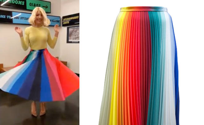 Here's how to get Holly's rainbow skirt