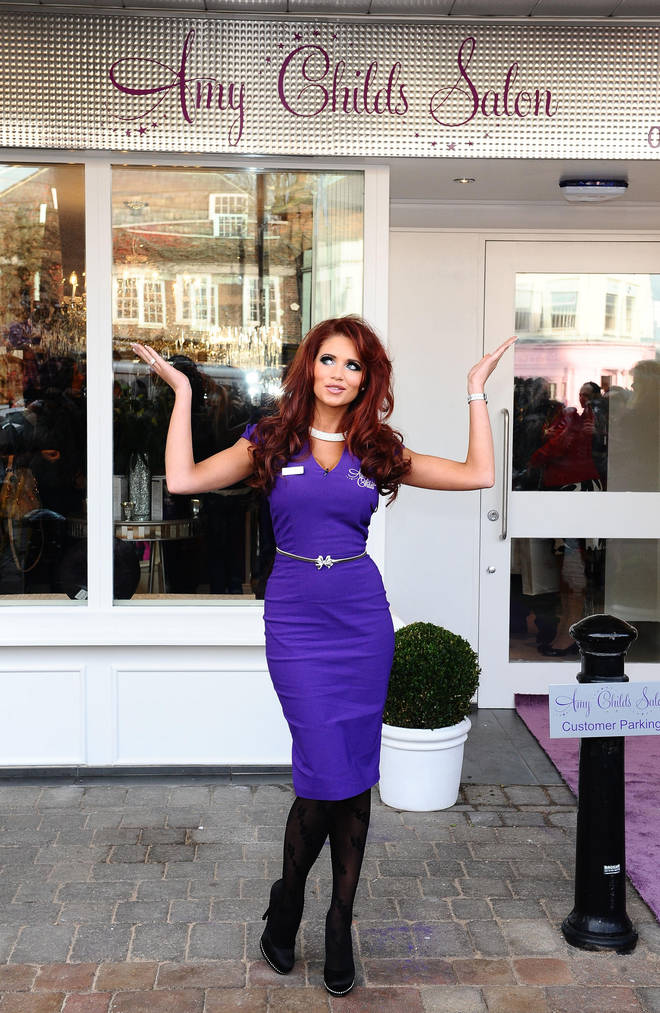 Amy Childs was famed for her red hair and beauty salon