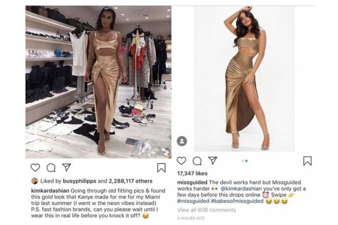 Missguided haven't been shy about Kim's influence but failed to defend themselves in court