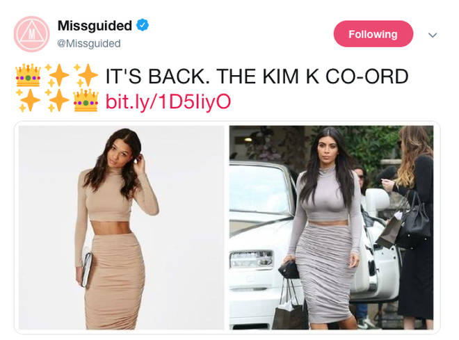 Missguided even named some of their items after the star