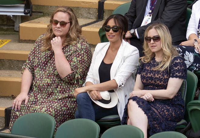 Meghan attended Wimbledon with her two best friends