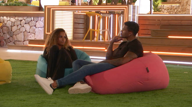 Amber and Michael get close in the garden