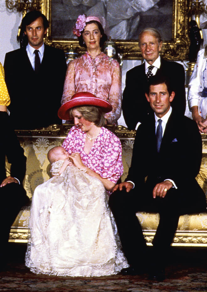 Princess Diana's children Prince Harry and Prince William were christened in the original gown