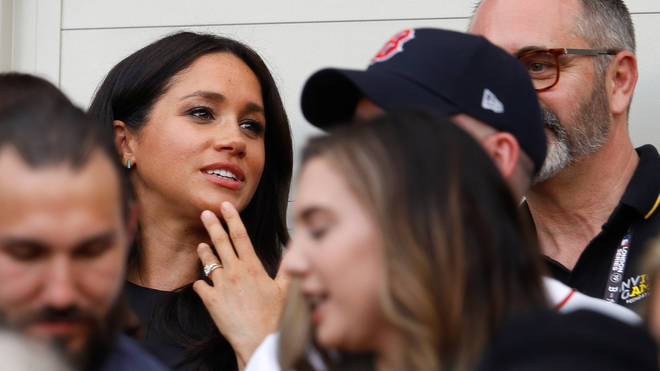 Meghan wore the stone again during an outing for the Invictus Games