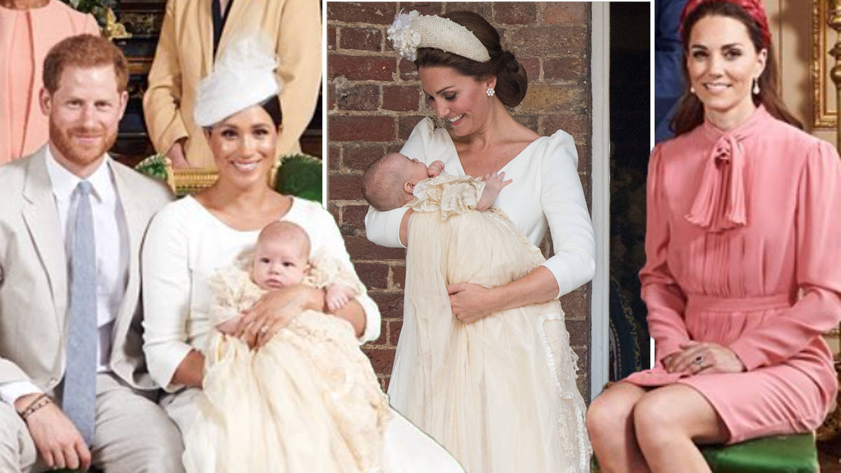 meghan markle pays subtle tribute to kate middleton at archie s christening heart meghan markle pays subtle tribute to
