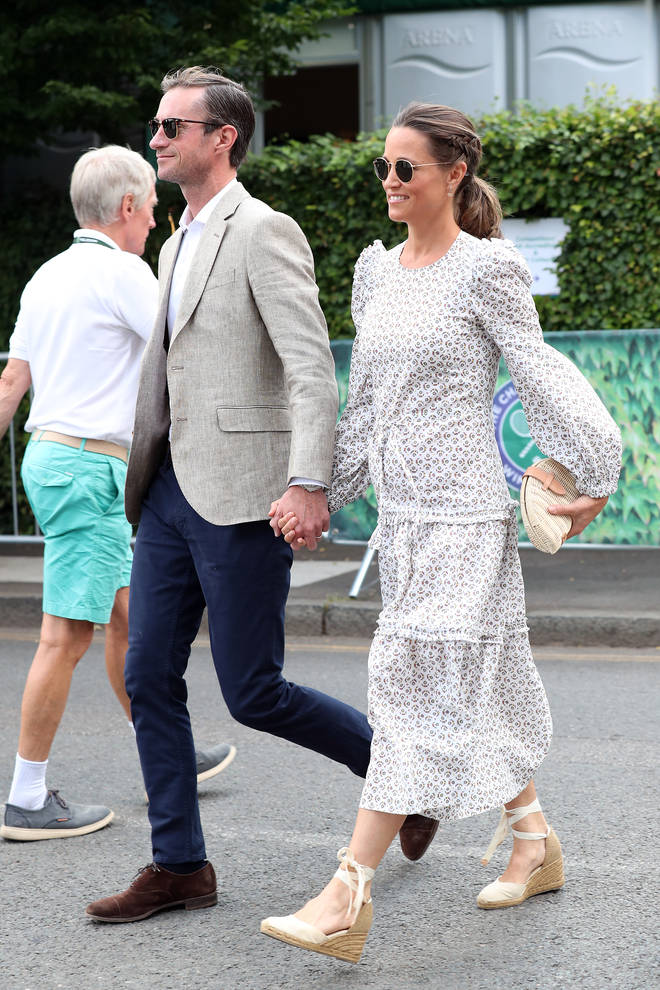 Pippa Middleton attended Wimbledon last year with her husband James Matthews