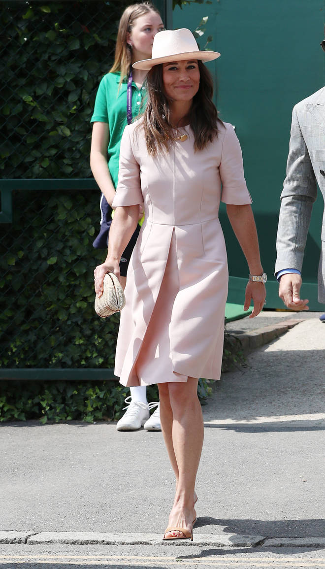 Pippa Middleton stunned in a pink Stella McCartney dress