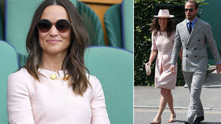 Pippa Middleton attended Wimbledon yesterday with brother James