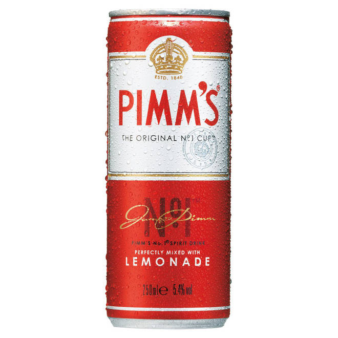 Pimm's The Original No.1 Cup and lemonade in a can
