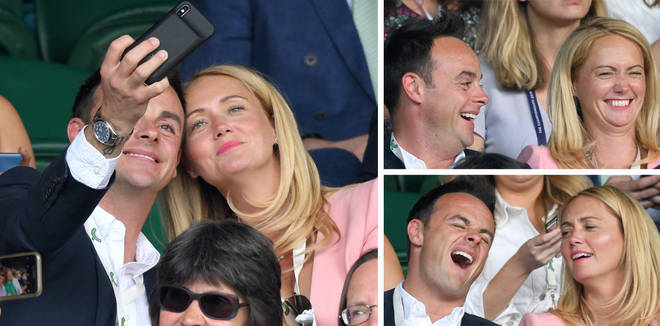 Ant McPartlin made his first public appearance with his girlfriend