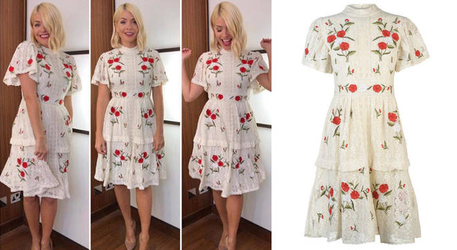 Holly looked stunning in this embroidered dress