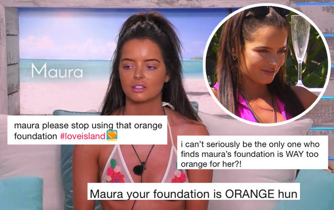 Maura's foundation doesn't match her body even after weeks in the Spanish sun