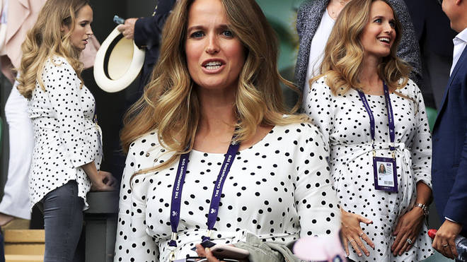 Kim Sears wore a spotty maternity as she attempted Wimbledon