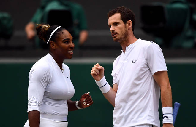 Andy and Serena Williams are currently playing in the mixed doubles