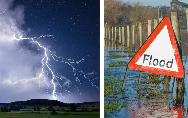 Floods are expected in areas of the UK today