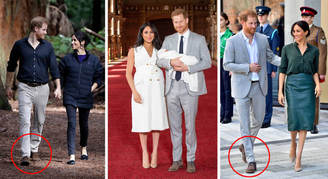 Fans are convinced Prince Harry only has one pair of shoes