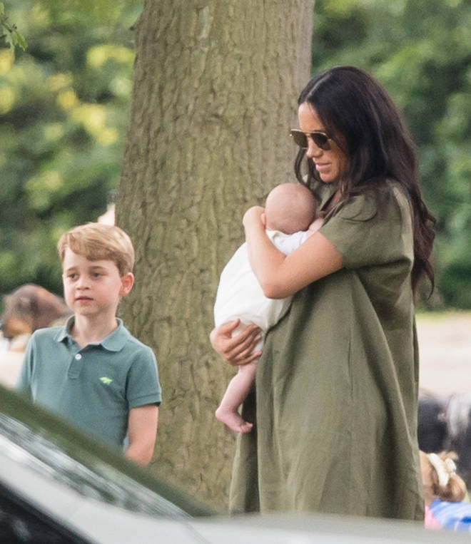 Meghan was close next to Kate Middleton and her children