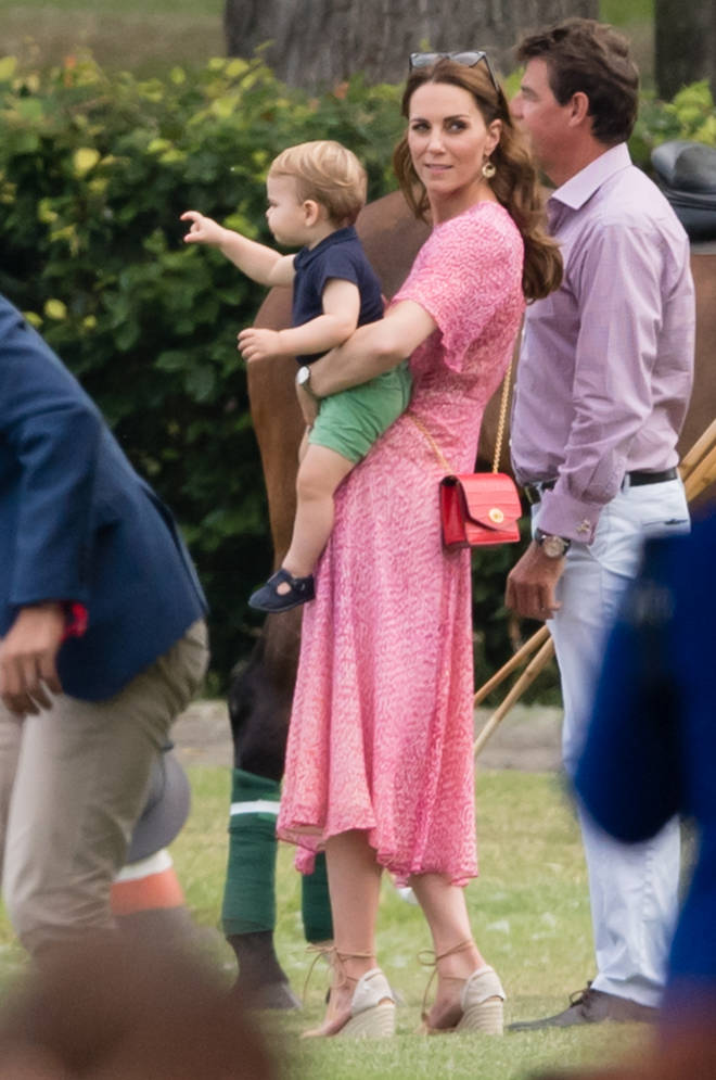 Kate looked stunning in this pink dress