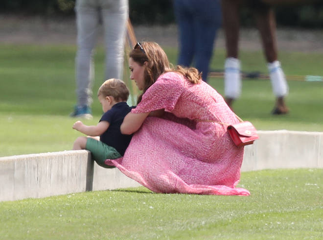 Kate cheered William on from the sidelines at the polo match