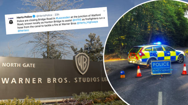 A fire has broken out at Warner Bros studios in Watford – the famous movie location in which Harry Potter was filmed.