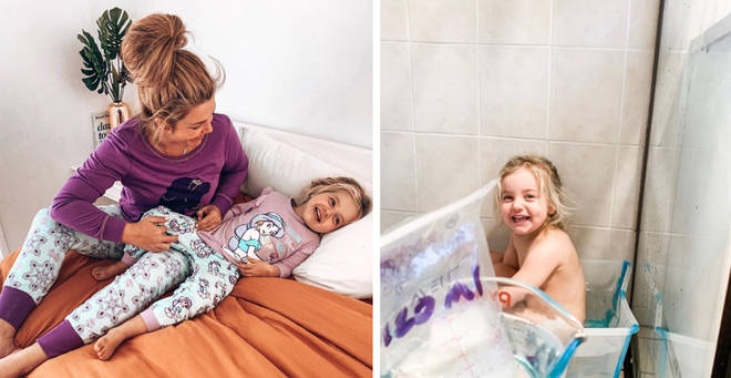 The mum shared her unusual method of getting rid of eczema on Instagram