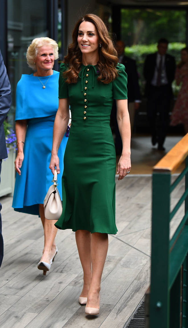 Kate Middleton wowed the crowds in Dolce & Gabbana at the Ladies' Singles Final.