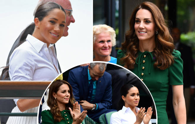 Kate Middleton and Meghan Markle stun at Wimbledon 2019.
