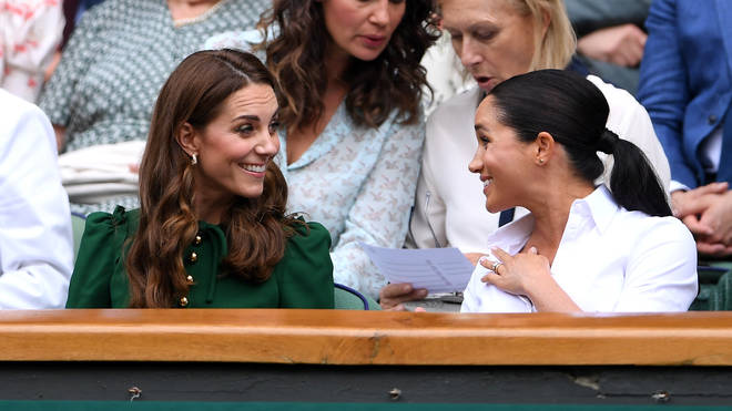 The Duchesses appeared in good spirits at the Ladies' Singles Final on 13th July, 2019.