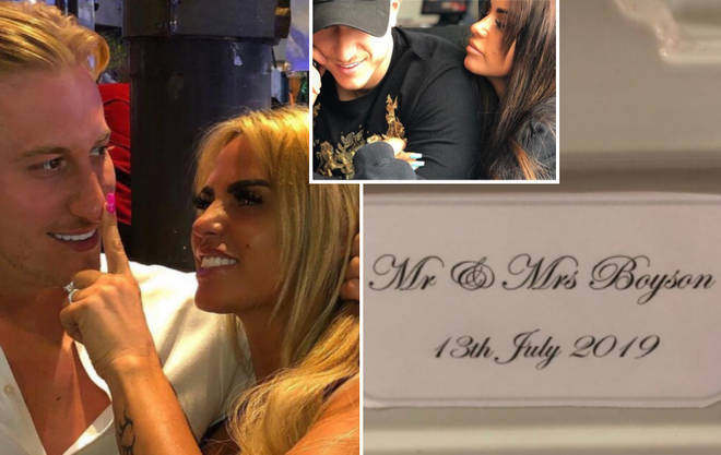The mother-of-five has sparked speculation she and personal trainer boyfriend Kris Boyson got married yesterday.