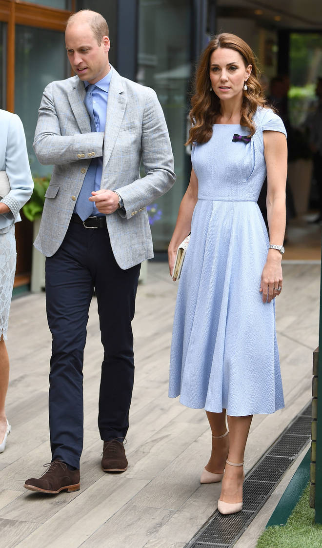 Kate Middleton looked the picture of elegance in Emilia Wickstead on the final day of Wimbledon 2019.