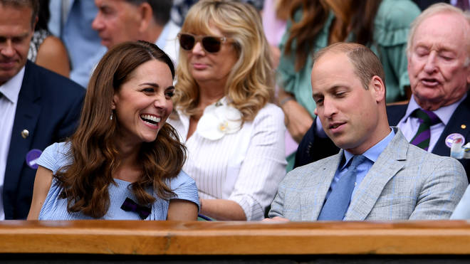 The Duchess of Cambridge was joined by husband Prince William to watch the Men's Singles Finals.