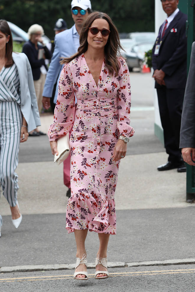 Pippa Middleton joined her sister and brother-in-law at the prestigious tennis tournament.