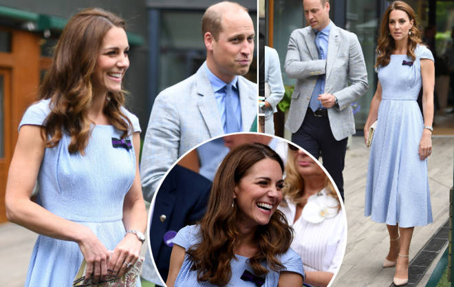 The royal couple arrived at Centre Court to watch Roger Federer battle Novak Djokovic in an attempt to secure his ninth Wimbledon win.