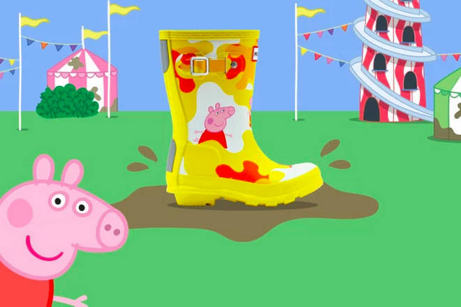 Hunter have collaborated with Peppa Pig for a brand new collection