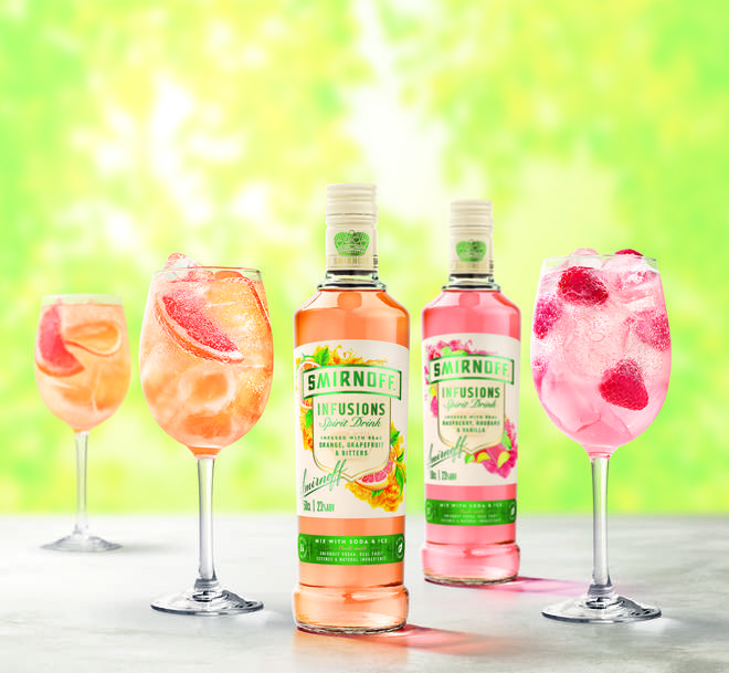 Smirnoff Infusions is the latest spritz to hit the shelves