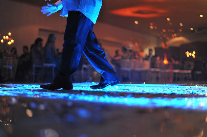 The event took place on the wedding dance floor