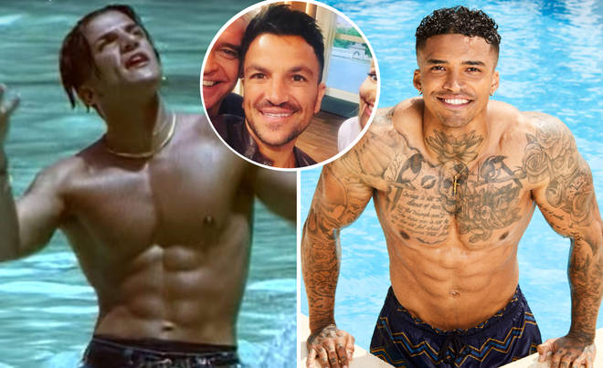 "Peter Andre admits people think he looks just like the hunky Islander – but says Michael has a ""better bod""."