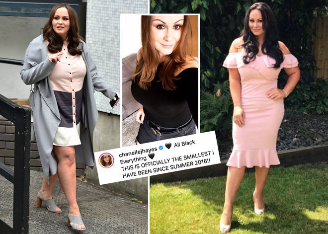 Chanelle Hayes reveals her svelte figure to fans on social media.