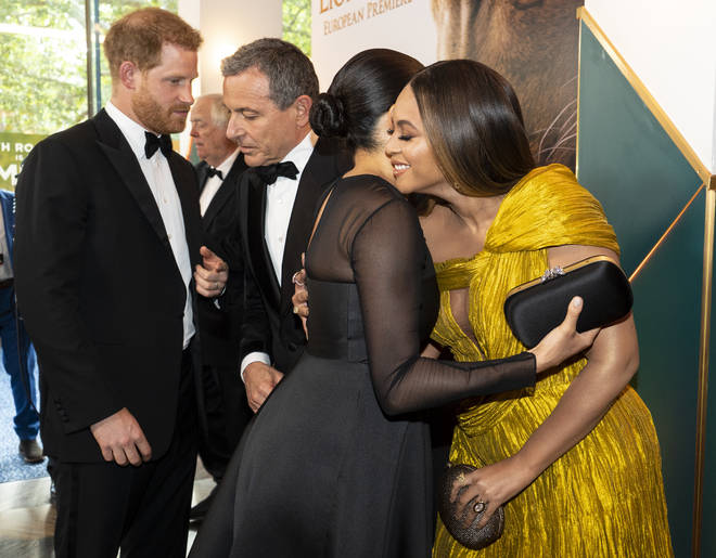 "Beyoncé whispered in Meghan&squot;s ear ""my princess"" as the hugged"