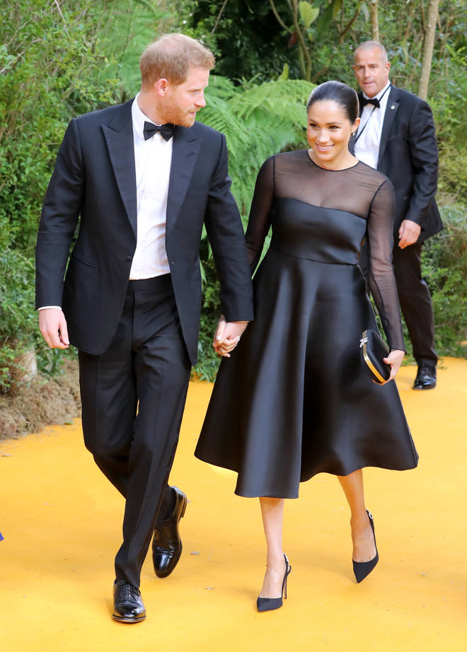Meghan Markle wore a simple black gown for the event