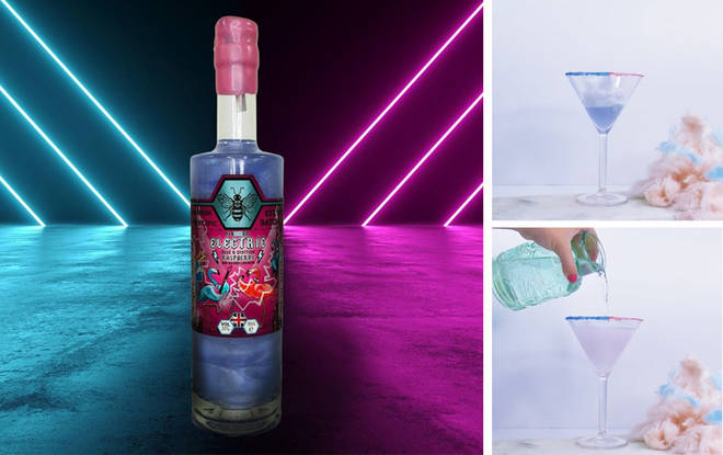 You can now buy glittery colour-changing gin and it tastes like raspberries