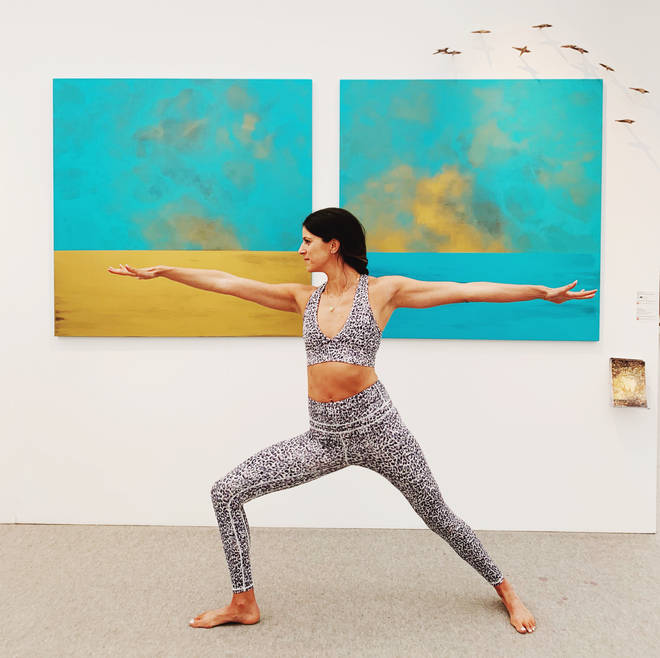 Hannah specialises in yoga moves for new mums