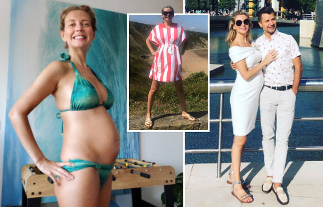 The Countdown presenter, 33, posed for a string of sweet snaps while on vacation with new hubby Pasha Kovalev.