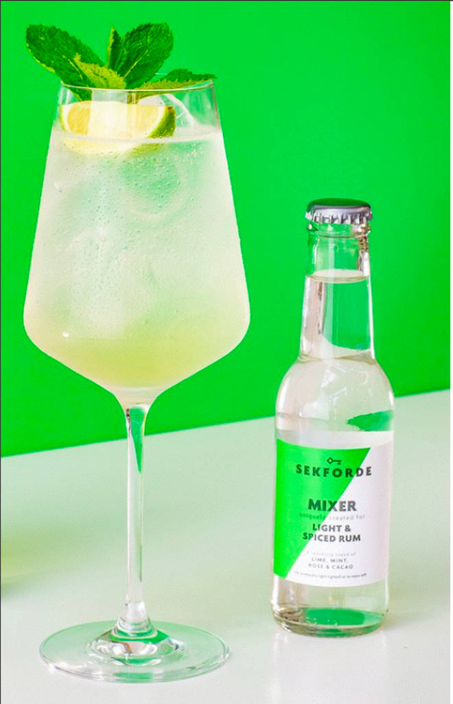 This is a low sugar take on the classic cocktail