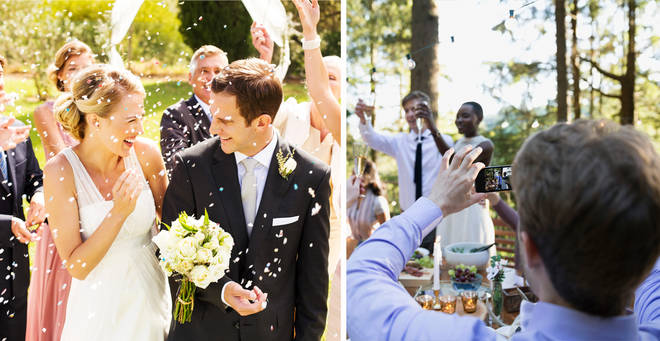 A wedding photographer has slammed guests