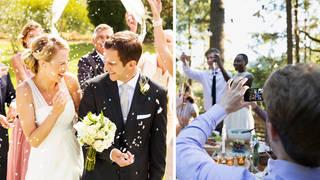 A wedding photographer has slammed guests