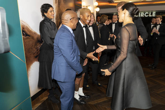 Meghan and Harry met with the stars of the new Lion King film
