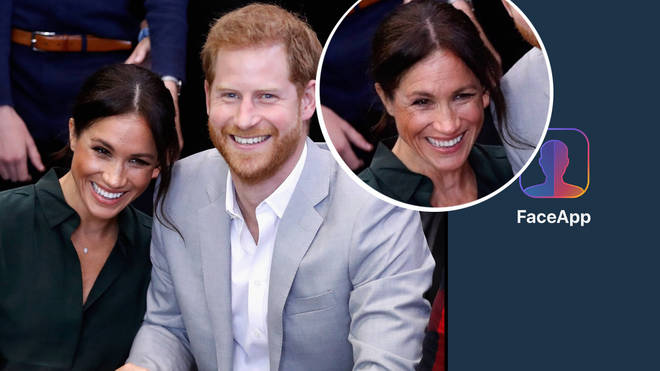 This is what Meghan Markle, Kate Middleton and the other royals will look like when they're older, according to FaceApp.