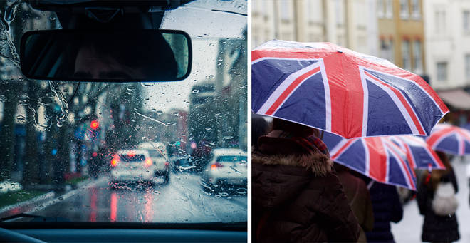 The UK is set to be hit by heavy rain
